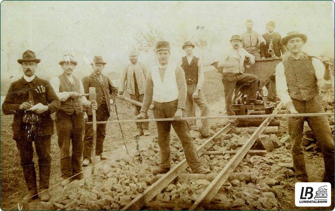 Bauarbeiten zur Lumdatalbahn